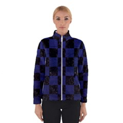 Square1 Black Marble & Blue Leather Winter Jacket by trendistuff
