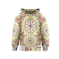 Intricate Flower Star Kids  Zipper Hoodie