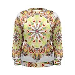 Intricate Flower Star Women s Sweatshirt