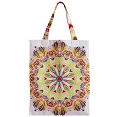 Intricate Flower Star Zipper Classic Tote Bag
