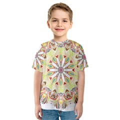 Intricate Flower Star Kids  Sport Mesh Tee