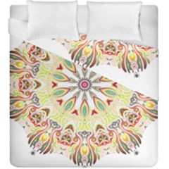 Intricate Flower Star Duvet Cover Double Side (king Size)
