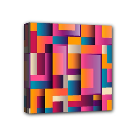 Abstract Background Geometry Blocks Mini Canvas 4  X 4  by Simbadda