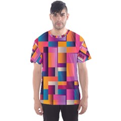 Abstract Background Geometry Blocks Men s Sport Mesh Tee by Simbadda
