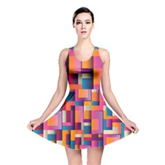 Abstract Background Geometry Blocks Reversible Skater Dress by Simbadda