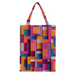 Abstract Background Geometry Blocks Classic Tote Bag by Simbadda