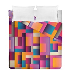 Abstract Background Geometry Blocks Duvet Cover Double Side (full/ Double Size) by Simbadda
