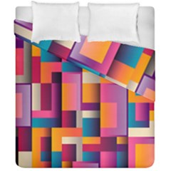 Abstract Background Geometry Blocks Duvet Cover Double Side (california King Size) by Simbadda