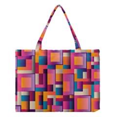 Abstract Background Geometry Blocks Medium Tote Bag by Simbadda