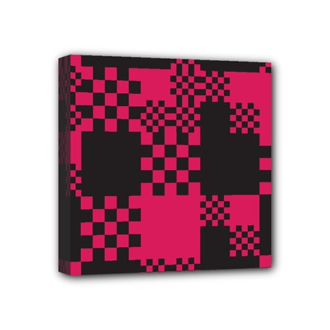 Cube Square Block Shape Creative Mini Canvas 4  X 4  by Simbadda