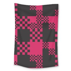 Cube Square Block Shape Creative Large Tapestry by Simbadda