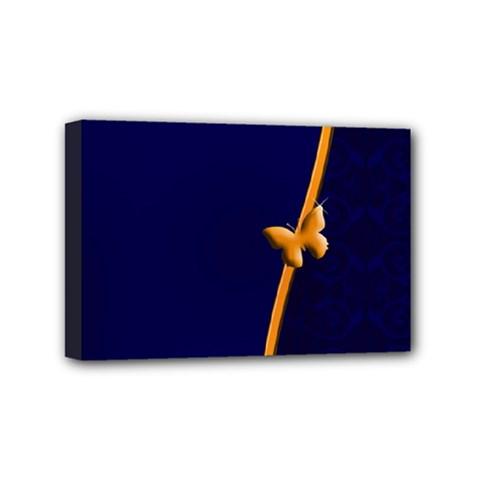 Greeting Card Invitation Blue Mini Canvas 6  X 4  by Simbadda