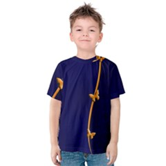 Greeting Card Invitation Blue Kids  Cotton Tee by Simbadda