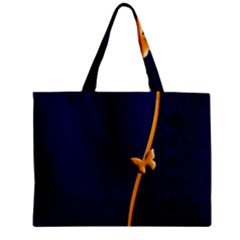 Greeting Card Invitation Blue Zipper Mini Tote Bag by Simbadda