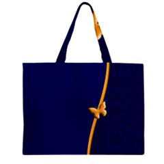Greeting Card Invitation Blue Zipper Large Tote Bag by Simbadda