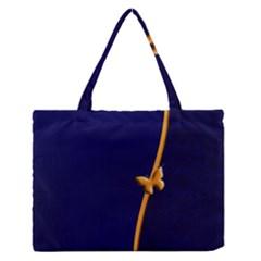 Greeting Card Invitation Blue Medium Zipper Tote Bag by Simbadda