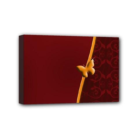 Greeting Card Invitation Red Mini Canvas 6  X 4  by Simbadda