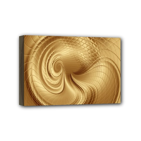 Gold Background Texture Pattern Mini Canvas 6  X 4  by Simbadda