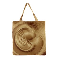 Gold Background Texture Pattern Grocery Tote Bag by Simbadda