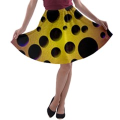 Background Design Random Balls A Line Skater Skirt by Simbadda