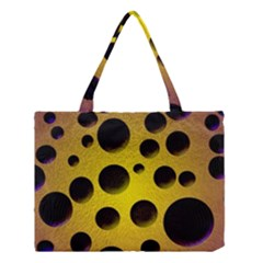 Background Design Random Balls Medium Tote Bag by Simbadda