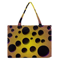 Background Design Random Balls Medium Zipper Tote Bag by Simbadda