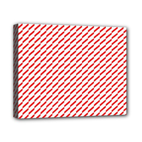 Pattern Red White Background Canvas 10  X 8  by Simbadda