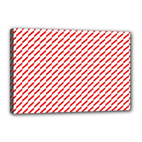 Pattern Red White Background Canvas 18  X 12  by Simbadda