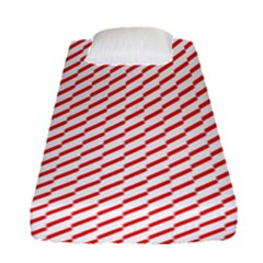 Pattern Red White Background Fitted Sheet (single Size) by Simbadda