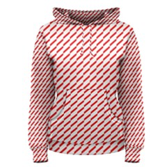 Pattern Red White Background Women s Pullover Hoodie by Simbadda