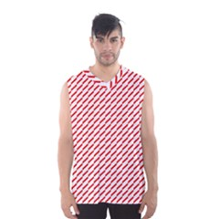 Pattern Red White Background Men s Basketball Tank Top