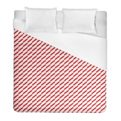 Pattern Red White Background Duvet Cover (full/ Double Size) by Simbadda