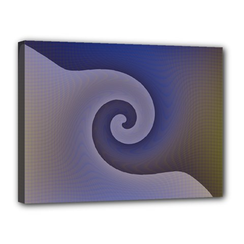 Logo Wave Design Abstract Canvas 16  X 12  by Simbadda