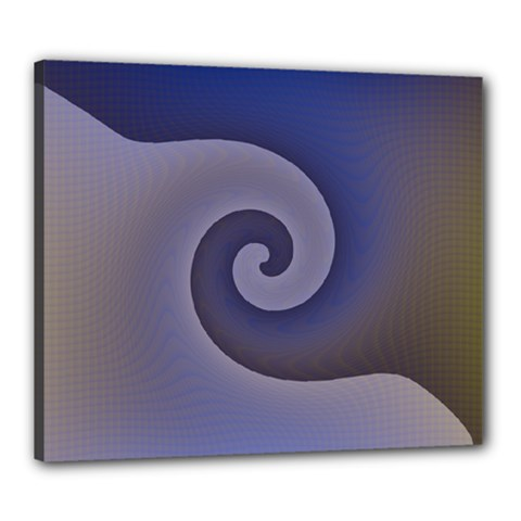 Logo Wave Design Abstract Canvas 24  X 20  by Simbadda
