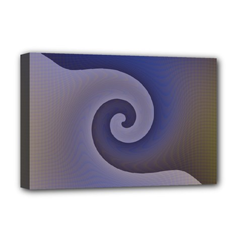 Logo Wave Design Abstract Deluxe Canvas 18  X 12   by Simbadda