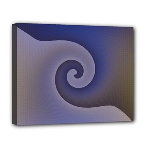 Logo Wave Design Abstract Deluxe Canvas 20  X 16   by Simbadda