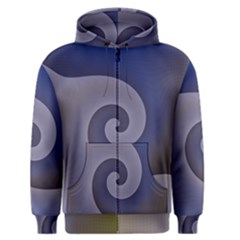 Logo Wave Design Abstract Men s Zipper Hoodie by Simbadda