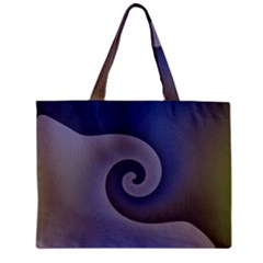 Logo Wave Design Abstract Zipper Mini Tote Bag by Simbadda