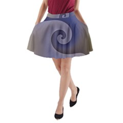 Logo Wave Design Abstract A Line Pocket Skirt by Simbadda