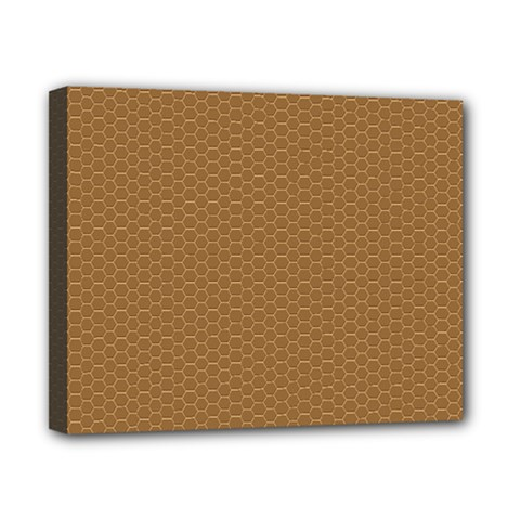 Pattern Honeycomb Pattern Brown Canvas 10  X 8  by Simbadda