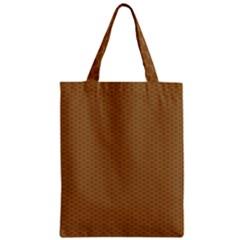Pattern Honeycomb Pattern Brown Zipper Classic Tote Bag by Simbadda