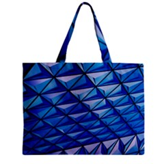 Lines Geometry Architecture Texture Zipper Mini Tote Bag
