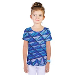 Lines Geometry Architecture Texture Kids  One Piece Tee by Simbadda