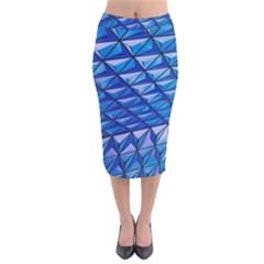 Lines Geometry Architecture Texture Velvet Midi Pencil Skirt by Simbadda