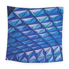 Lines Geometry Architecture Texture Square Tapestry (large) by Simbadda