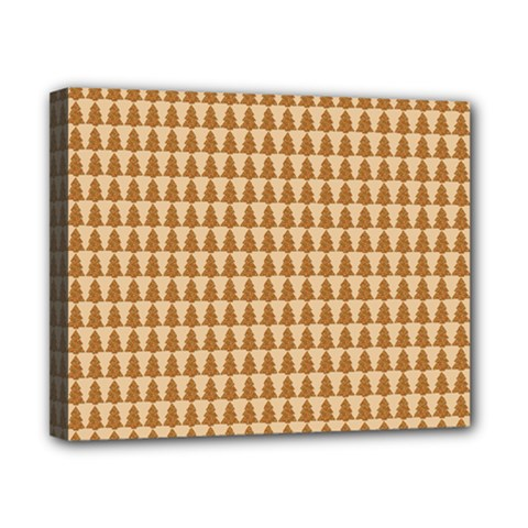 Pattern Gingerbread Brown Canvas 10  X 8  by Simbadda