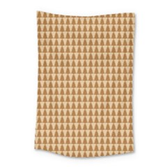 Pattern Gingerbread Brown Small Tapestry by Simbadda