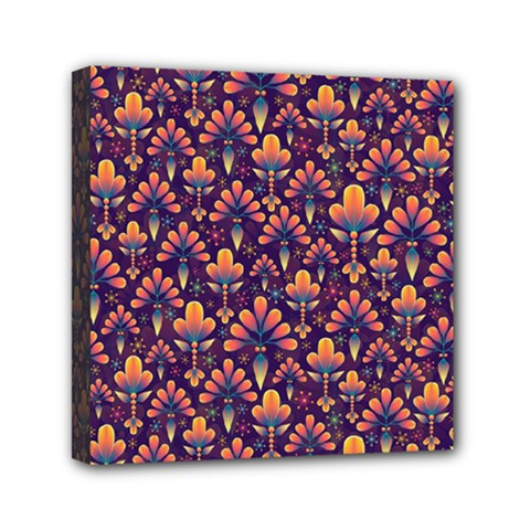 Abstract Background Floral Pattern Mini Canvas 6  X 6  by Simbadda