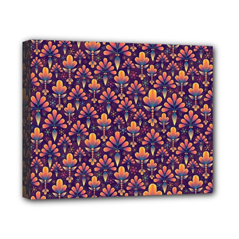 Abstract Background Floral Pattern Canvas 10  X 8  by Simbadda