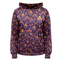Abstract Background Floral Pattern Women s Pullover Hoodie by Simbadda